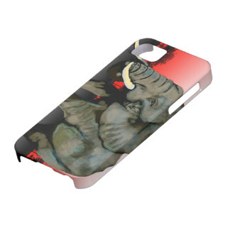 Red Elephant iPhone case