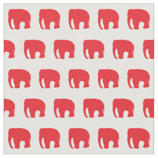 Red Elephant Kid's Fabric