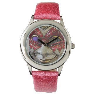 Red Elephant Mask Watch