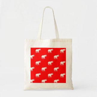 Red Elephant polkadot Budget Tote Bag