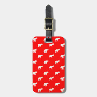 Red Elephant polkadot Luggage Tag