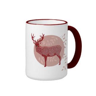 Red ELK Ringer Mug