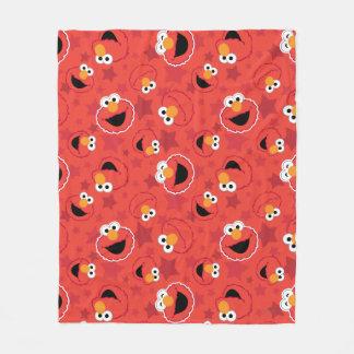 Red Elmo Faces Pattern Fleece Blanket