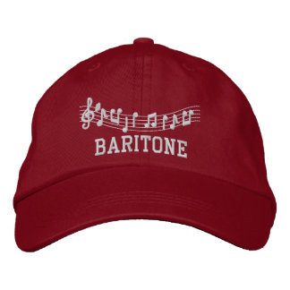 Red Embroidered Baritone Music Hat