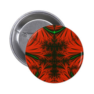 Red & Emerald Ice Crystals Pin