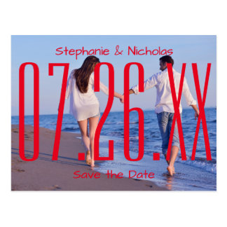 Red Empire Date & Photo - Save the Date Postcard