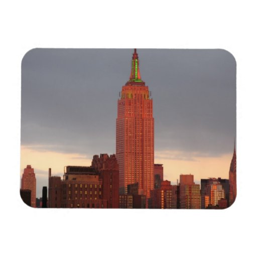 red empire state building flexible magnet