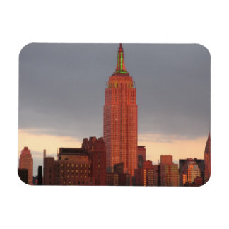 red empire state building rectangular photo magnet