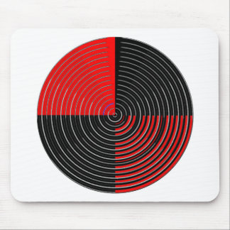 Red Energy Chakra - Silver n Black Streaks Mouse Pad