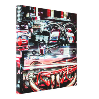 Red Engine Canvas