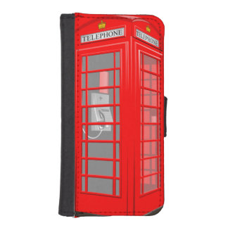 Red English Phone Booth iPhone 5S Wallet Case