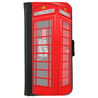 Red English Phone Booth iPhone 6 Wallet Case