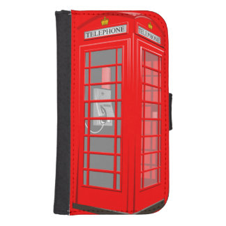 Red English Phone Booth Samsung S4 Wallet Case