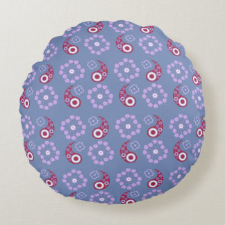 Red examined round cushion