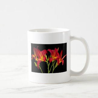 Red Exotic Garden Flowers Elegant Romantic gifts Basic White Mug