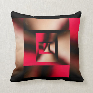 Red Explorer Abstract Pillow