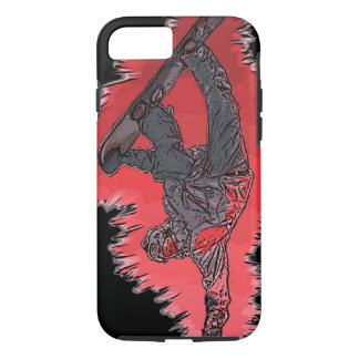 Red explosion snowboarder artistic iPhone 7 case