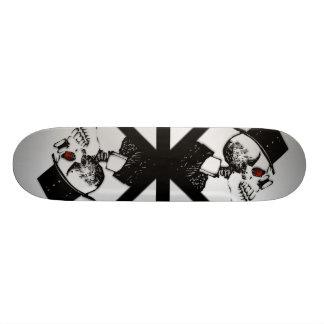Red Eye Skeleton Skate Board