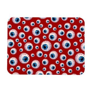 Red eyeball pattern rectangle magnet