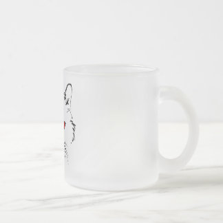 Red Eyed Cat Frosted Mug