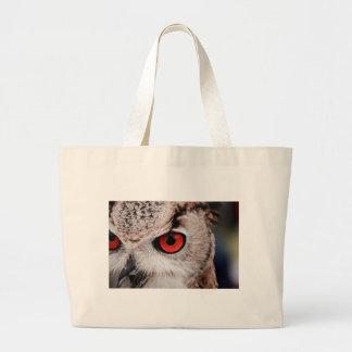 Red-Eyed Owl Large Tote Bag