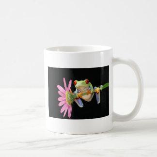 red eyed tree frog basic white mug