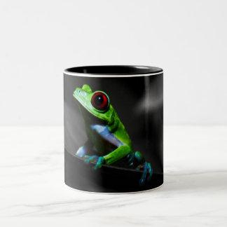 Red Eyed Tree Frog III Two-Tone Mug
