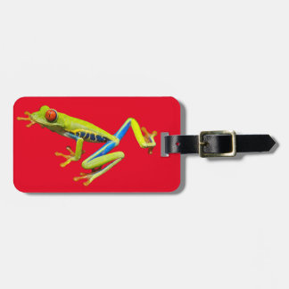 Red eyed tree frog luggage tag