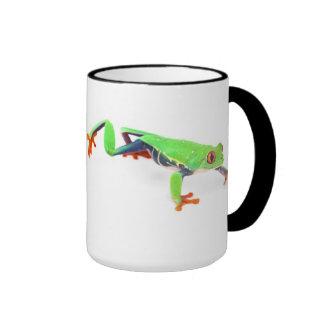 Red eyed tree frog ringer coffee mug