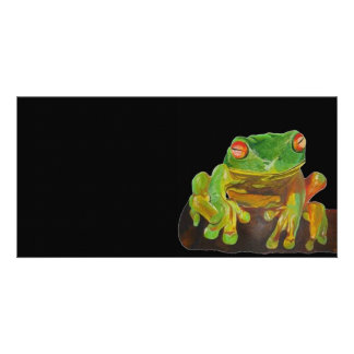Red Eyed Tree Frog. Personalised Photo Card