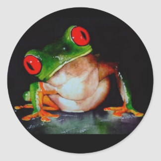 Red-eyed Tree Frog Stickers - Original Watercolor