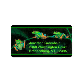 Red-Eyed Tree Frogs Address Label