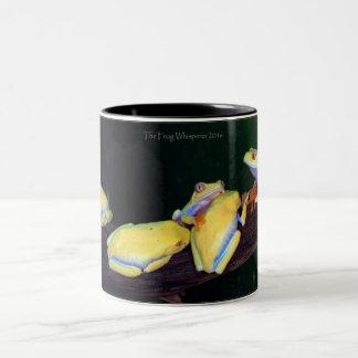 Red Eyed Tree Frogs - Albino Two-Tone Coffee Mug