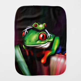 Red Eyed Tree Frogs Burp Cloth