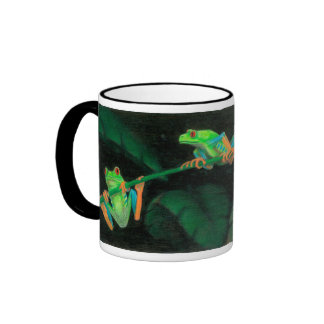 Red-Eyed Tree Frogs Ringer Coffee Mug