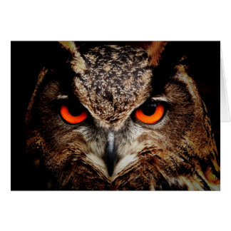Red Eyes Eagle Owl Greeting Card