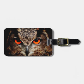 Red Eyes Eagle Owl Bag Tags