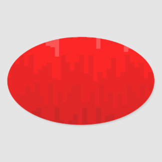 Red Fade Background Oval Sticker