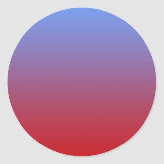 Red fading to Blue Colors, simple design. Stickers