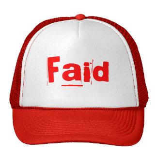 Red Faid hat