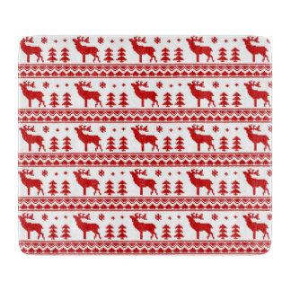 Red Fair Isle Christmas Cutting Board