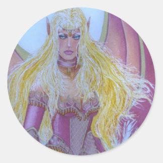 Red fairy Dragon Queen Round Sticker