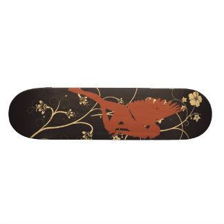 Red fairy skate board deck