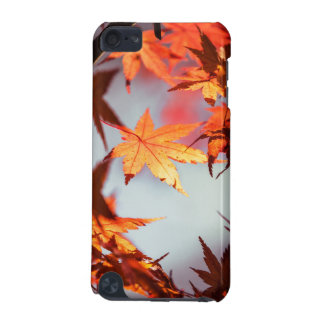 Red Fall Autumn Leaves Maple Tree iPod Touch 5G Cases