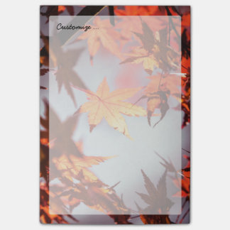 Red Fall Autumn Leaves Maple Tree Post-it Notes