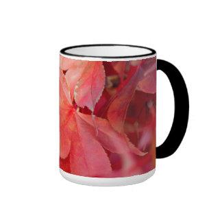 Red Fall Leaves Mug
