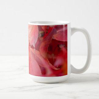 Red Fall Leaves Coffee Mug
