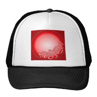 Red fallen numbers cap