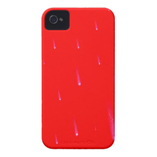 Red Falling Christmas Falling Stars Case-Mate iPhone 4 Case