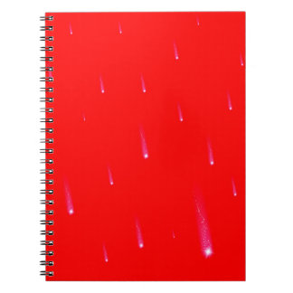 Red Falling Christmas Falling Stars Notebook